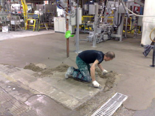22. ATB-300 H System floor in progress